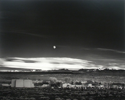 Ansel Adams, Moonrise, Hernandez, New Mexico (1948),