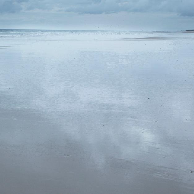 Recorte de la imagen de la playa después de 8 iteraciones,